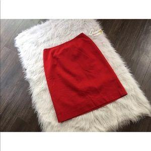 NWT Pendleton Red 16 pencil skirt